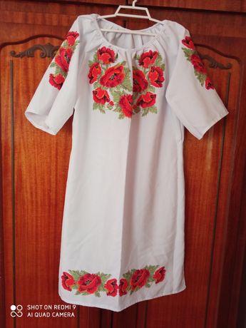 Вишита сукня 48р