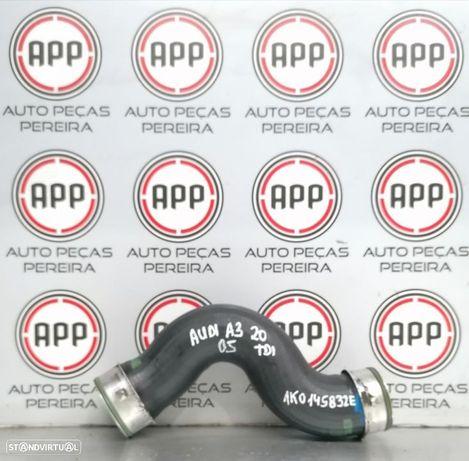 Tubo de intercooler Audi A3 Golf 5, Leon 1P 2.0 TDI 140 CV referência 1K0145 832E