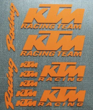 Ktm Racing autocolantes bicicleta