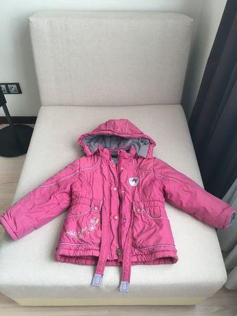 Продам зимнюю куртку со штанами на девочку 4-5 лет