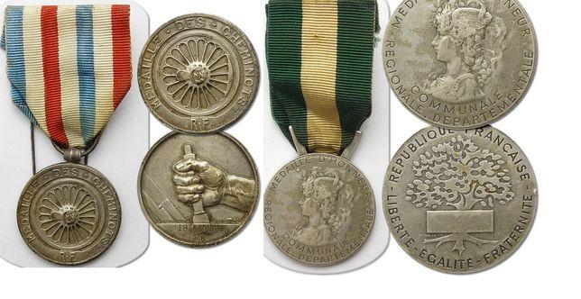 Dwa medale, odznaczenia francuskie - Medale Honorowe!