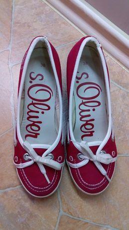 Туфли балетки красные Oliver