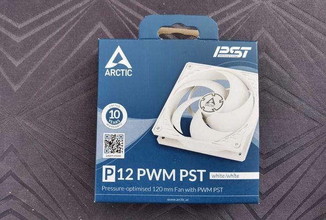 Ventoinhas PC Arctic P12 PWM PST Branco