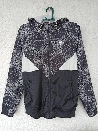 Куртка adidas originals ветровка толстовка s m женская с капюшоном