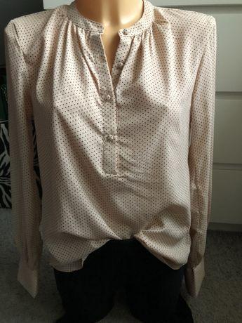 Koszula S 36 groszki elegancka pudrowy róż