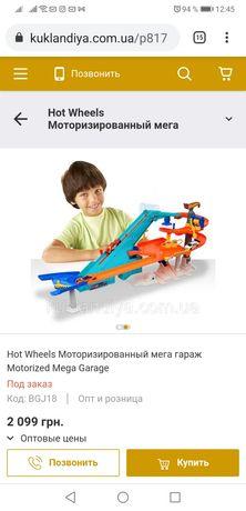 Трек Hot Wheels Моторизированный мега гараж Motorized Mega Garage