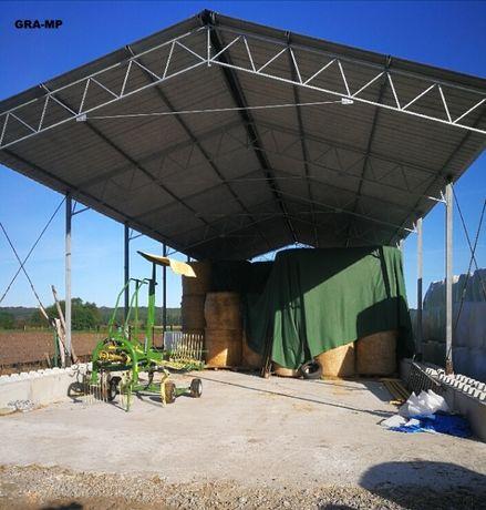 OCYNKOWANA konstrukcja stalowa skręcana wiata garaż 8x13m Hala Magazyn