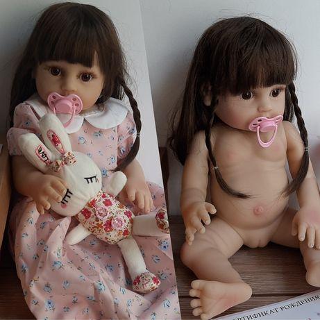 Оригинальная кукла реборн 48 см.Полностью силиконовая модель