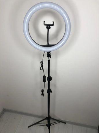 Кольцевая LED лампа S31 (1 крепл.тел) USB диаметр 33см со штативом 2 м