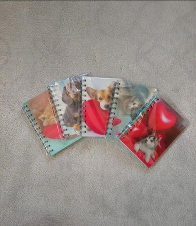 Zestaw 5 sztuk notesów/kołonotatników w zwierzaki