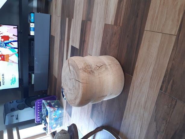 Pufa siedzisko drewno