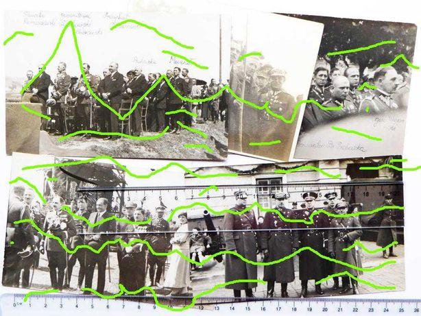 Przemyśl 1933 Urząd Miejski uroczystości 5 PSP haubica fotografia