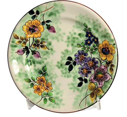 prato da fabrica de Sacavém com decoracao pintada a mão