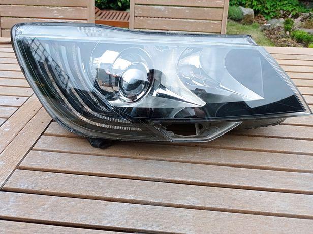 Lampa Bi Xenon skrętny LED skoda Superb 2 II Lift Europa Hella Prawa