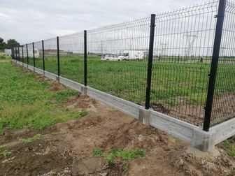 Montaż ogrodzeń panelowych z podmurówką