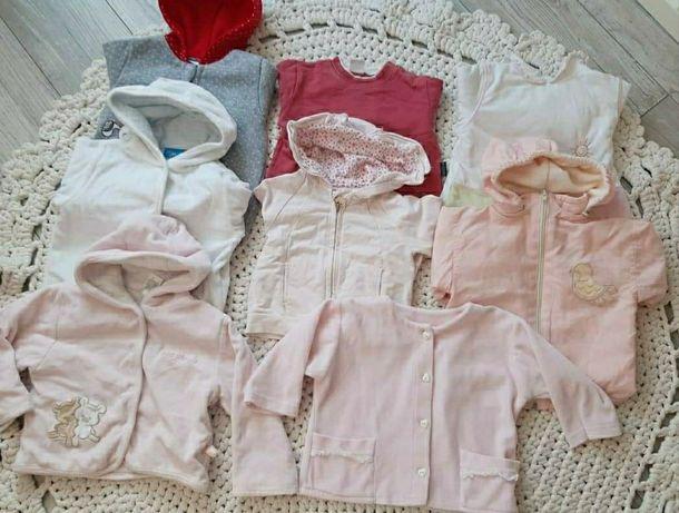 Zestaw bluz i kurteczek roz. 68-74