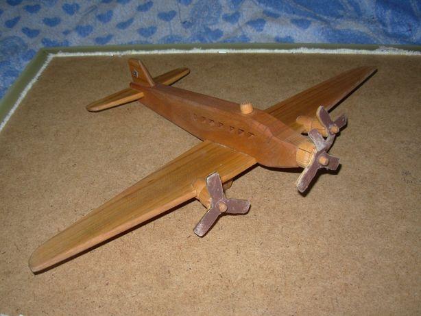 Drewniany model samolotu Junkers Ju-52