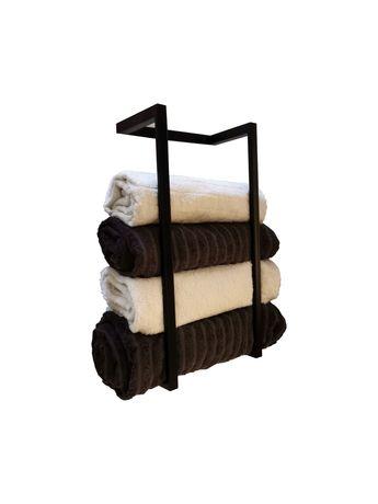 Uchwyt na ręczniki metal/ stojak / wieszak loft metalowy czarny