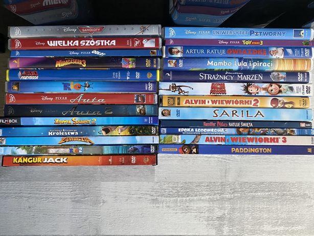 Zestaw 25 płyt filmów bajek na DVD