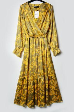 Роскошное длинное платье в цветы