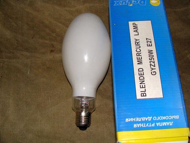 Продам лампу ртутно-вольфрамовая DELUX GYZ 250W E27