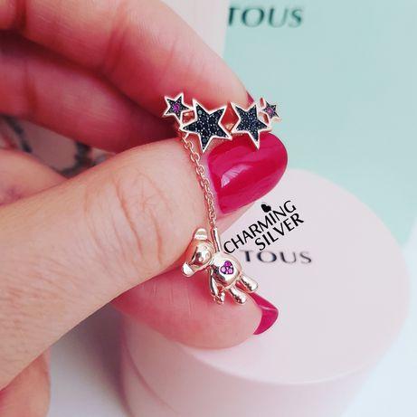 Серебряные серьги TOUS Teddy Bear Stars арт: 018073540 Тоус