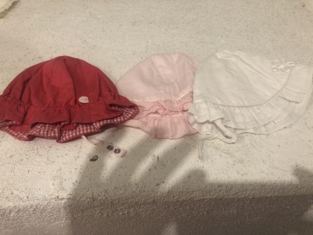 3 chapéus Mayoral menina 2,4 e 9m (como novos)