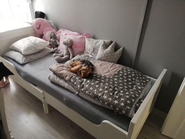 Łóżko Ikea białe rosnące z dzieckiem