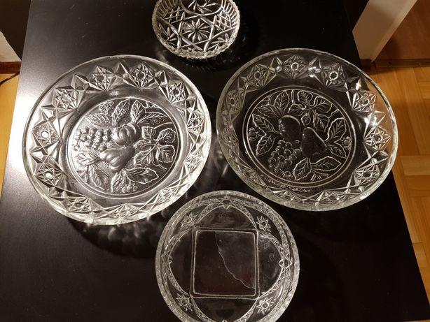 Naczynia, kryształy, talerze prl