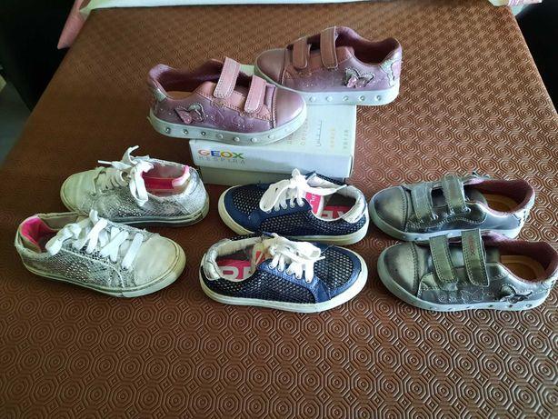 Sapatilhas de menina, vários modelos, tamanho 28