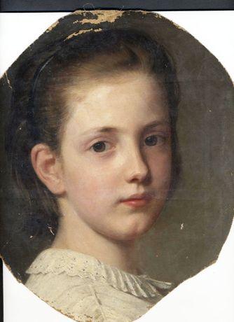 Портрет девочки. Неизвестный художник. Германия.