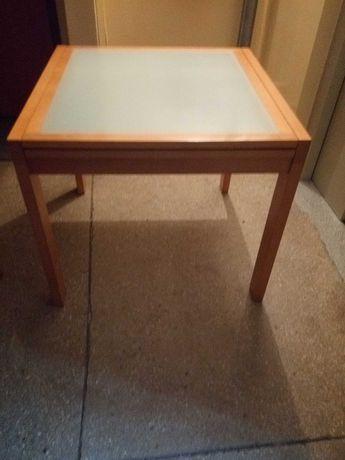 Stół rozsuwany szklany blat.
