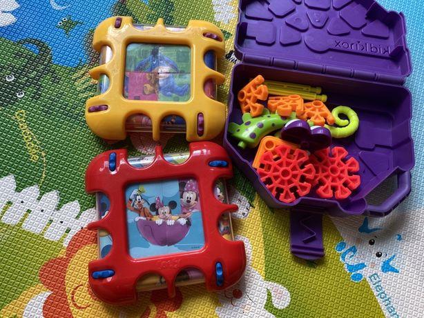 Детские развивающие игрушки, пазлы, конструктор kidknex, scrolly