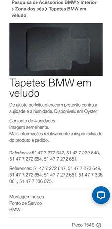 Tapetes originais em veludo BMW F20 Série 1