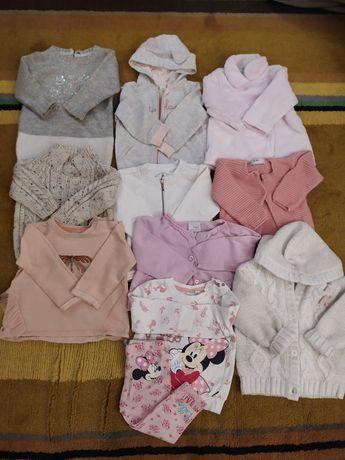 Zestaw bluz i sweterków rozm 74/80 Next, Zara, Reserved, Disney, Endo