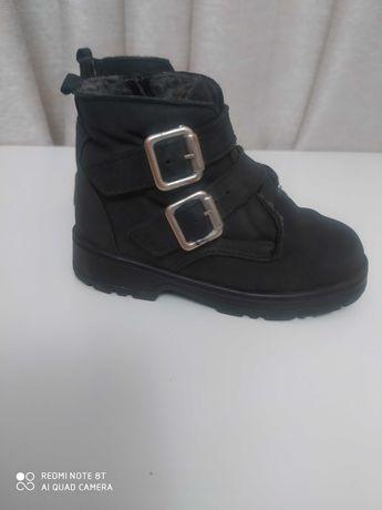 Ботинки зима Зара кожаные на девочку