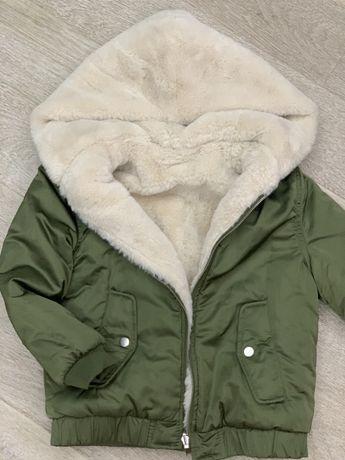 Куртка - шубка двусторонняя Zara