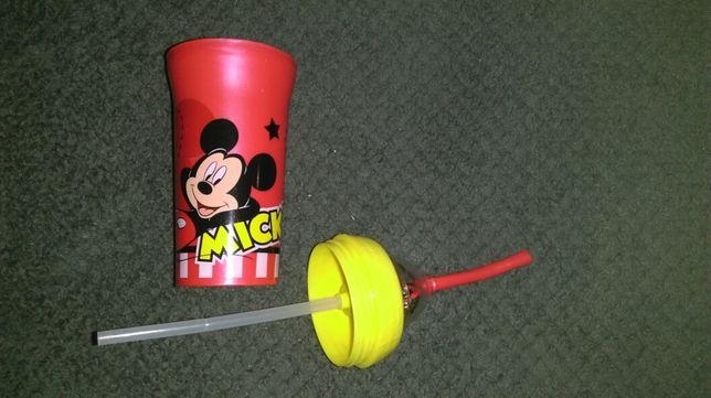 Kubek plastikowy ze słomką do nauki picia * Trudeau 300 ml Myszka Miki