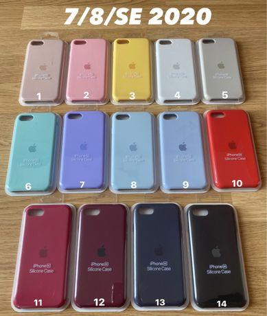 Case Apple Etui Silicone Iphone 7 8 SE 2020 X XS XR 11 12 Pro Max