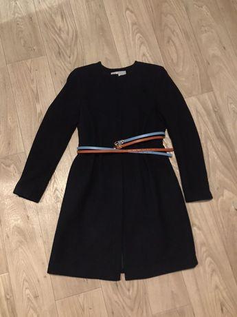 Пальто демисезонное h&m синее куртка размер 34 xs-s