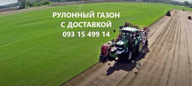 Качественный рулонный газон ОПТОМ с доставкой от 65 грн