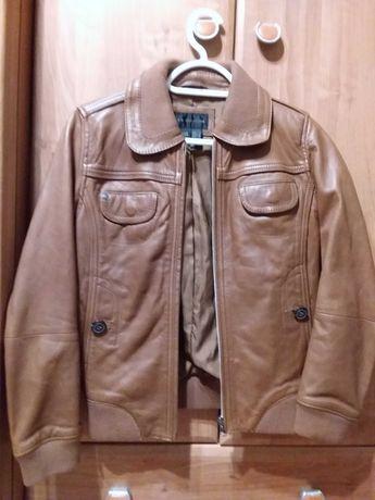 Куртка кожаная Манго