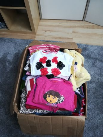 Paka ubrań 156 sztuk dla dziewczynki 2-4 latka mega paka tanio
