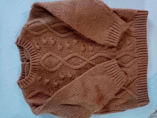 Sweter musztardowy Reserved 98cm