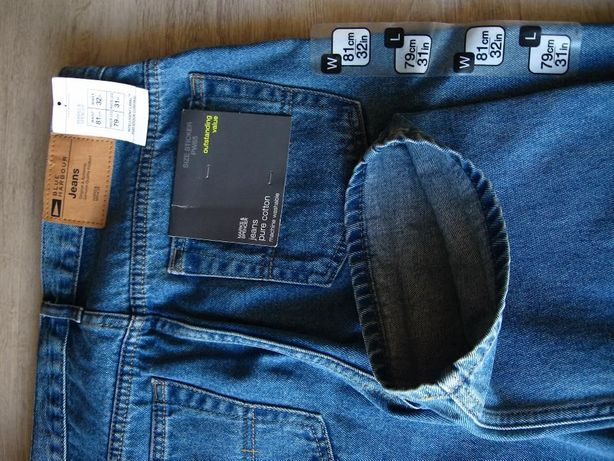 Marks & Spencer - NOWE, z metkami, jeansy Blue Harbour, W 81 cm,L 79cm