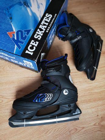 Łyżwy K2 Kinetic Ice NOWE! r. 41,5 niebieski/czarny