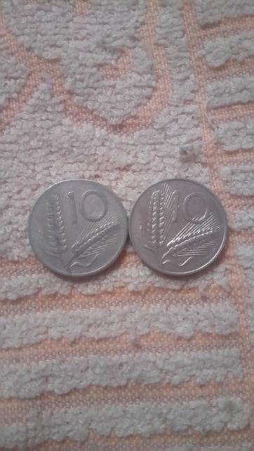 Dwie Monety 10 Lirów 1979/1953r