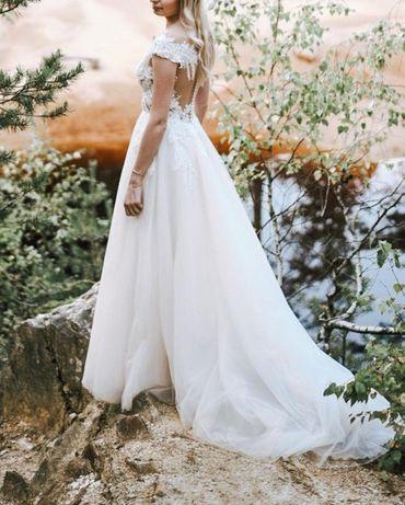Romantyczna suknia ślubna Ladybird 175 cm ivory/beż kolekcja 2020