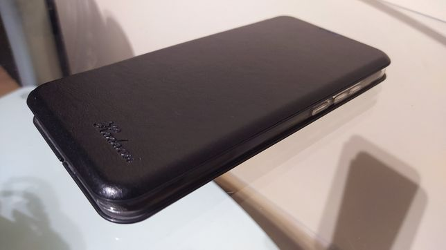 Etui Xiaomi Redmi Note 8T Czarne skórzane z klapką magnetyczną