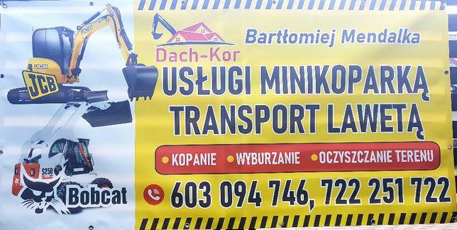 Usługi minikoparką 8030 oraz bobcatem S250